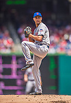 28 July 2013: New York Mets pitcher Carlos Torres on the mound against the Washington Nationals at Nationals Park in Washington, DC. The Nationals defeated the Mets 14-1. Mandatory Credit: Ed Wolfstein Photo *** RAW (NEF) Image File Available ***