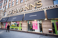 A Loehmann's department store in the Chelsea neighborhood of New York on Thursday, December 19, 2013. Barneys New York is reported to be opening a store in the space when Loehmann's closes. Barney's previously occupied the same space and left it in 1997. The women's clothing retailer is reported to be considering filing for bankruptcy protection for the third time. The off-price merchandiser is facing the same problems that besieged its defunct rivals, Sym's, Filene's and Daffy's, the production of goods has been streamlined by computerization resulting in less excess inventory that manufacturers must unload.  (© Richard B. Levine)