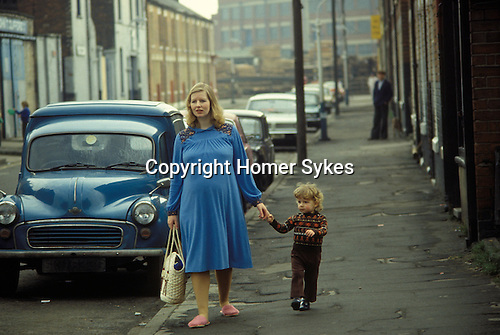Mother and son in working class area of Hull Humberside circa 1985