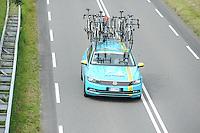 WIELRENNEN: BOLSWARD: 10-08-2015, De eerste etappe van de Eneco Tour met als start en finish in Bolsward werd gewonnen door Elia Viviani (ITA) van de Sky-ploeg, tweede werd Danny van Poppel (NED) de derde plek was voor Jean-Pierre Drucker (LUX), de etappe eindigde in een massasprint, ©foto Martin de Jong