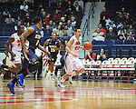 "Ole Miss' Marshall Henderson (22) dribbles vs. East Tennessee at the C.M. ""Tad"" Smith Coliseum in Oxford, Miss. on Saturday, December 14, 2012. Mississippi won 77-55 to improve to 7-1. (AP Photo/Oxford Eagle, Bruce Newman).."