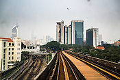A RapidKL trainline in Kuala Lumpur, Malaysia.