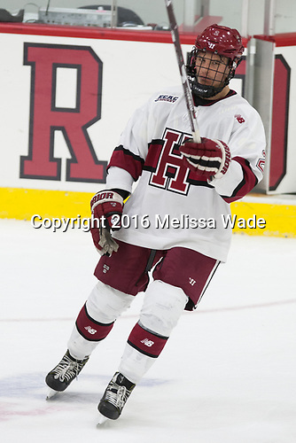 Tyler Moy (Harvard - 2) - The Harvard University Crimson defeated the visiting Boston College Eagles 5-2 on Friday, November 18, 2016, at the Bright-Landry Hockey Center in Boston, Massachusetts.