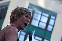 Long-distance swim legend Diana Nyad attends day 1 of 'Swim For Relief' in an Attempt of 48-Hour Swim Benefiting Hurricane Sandy Recovery at Herald Square in New York,  October 08, 2013, Photo by Kena Betancur / VIEWpress.