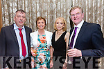Enjoying the Lee Strand Social at Ballygarry House Hotel on Saturday were Liam Banbury, Noreen Banbury, Miriam McGillycuddy and Mike Dillane