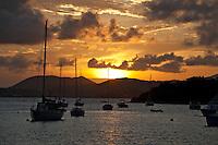 Sunset from Great Cruz Bay, St. John.U.S. Virgin Islands