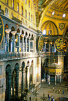 Interior, Hagia Sophia museum (Aya Sofya), Istanbul, Turkey