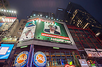 "A billboard in Times Square in New York on Tuesday, April 29, 2014 raises the question ""Ask Randi Why?, referring to Randi Weingarten, President of the American Federation of Teachers. The group paying for the billboard is The Center for Union Facts, a nonprofit that according to their material is ""dedicated to showing Americans the truth about today's teachers unions"". (© Richard B. Levine)"