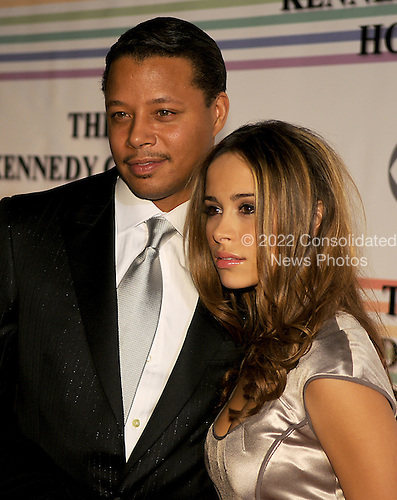 Washington, DC - December 2, 2007 -- Terrence Howard and Zulay  Henao arrive at the John F. Kennedy Center for the Performing Arts for the gala performance honoring the 30th Annual Kennedy Center honorees in Washington, D.C. on Sunday, December 2, 2007. The honorees for 2007 are: Leon Fleischer, Steve Martin, Diana Ross, Martin Scorsese, and Brian Wilson..Credit: Ron Sachs / CNP