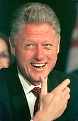 United States President Bill Clinton laughs during his remarks on school modernization at an event at Pine Crest Elementary School in Silver Spring, Maryland on 8 September, 1998.<br /> Credit: Ron Sachs / CNP