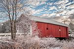 The Carleton covered bridge in Swanzey, New Hampshire, USA
