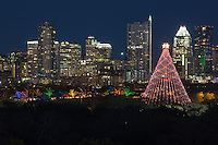 The Zilker Holiday Tree and Austin Trail of Lights is a December delightful sight to see amid the Austin skyline.