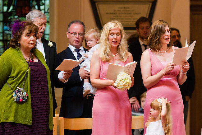 Wedding of James and Catherine Hellings,<br /> Holy Trinity Brompton Church,<br /> Kensington, London. <br /> 27th August 2010.