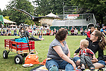 Turkey vulture Clyde flys low to the ground and right over an onlooking families head during the Wild Life Live show at The Oregon Zoo. © Oregon Zoo / Photo by Carli Davidson