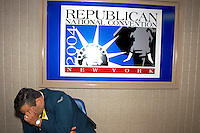 NEW YORK, NY - August 30, 2004: The hallway at the 2004 Republican National Convention at Madison Square Garden in New York City, New York.