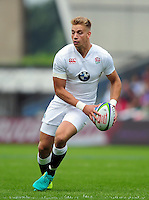 Harry Mallinder of England U20 in possession. World Rugby U20 Championship Final between England U20 and Ireland U20 on June 25, 2016 at the AJ Bell Stadium in Manchester, England. Photo by: Patrick Khachfe / Onside Images
