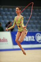 Tzvetelina Stoyanova of Bulgaria (junior) performs at 2008 Portimao World Cup of Rhythmic Gymnastics on April 17, 2008.  (Photo by Tom Theobald)..