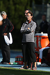 03 November 2013: Boston College head coach Alison Foley. The University of North Carolina Tar Heels hosted the Boston College Eagles at Fetzer Field in Chapel Hill, NC in a 2013 NCAA Division I Women's Soccer match and the quarterfinals of the Atlantic Coast Conference tournament. North Carolina won the game 1-0.