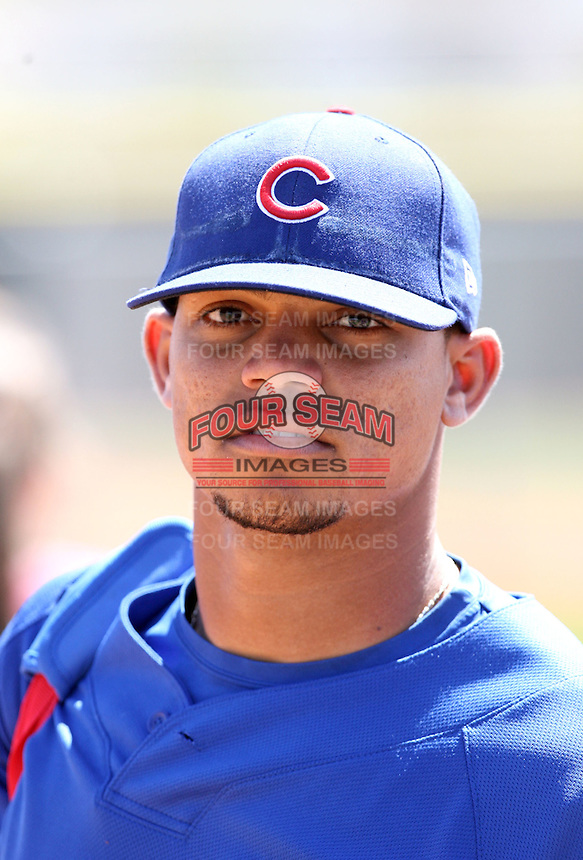 Alvaro Ramirez, Chicago Cubs 2010 minor league spring training..Photo by:  Bill Mitchell/Four Seam Images.