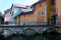 Annecy, France bridge and windows
