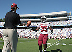 13 October 2007: South Carolina's Greg Wright. The University of South Carolina Gamecocks defeated the University of North Carolina Tar Heels 21-15 at Kenan Stadium in Chapel Hill, North Carolina in an NCAA College Football Division I game.