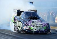 May 18, 2012; Topeka, KS, USA: NHRA funny car driver Bob Bode during qualifying for the Summer Nationals at Heartland Park Topeka. Mandatory Credit: Mark J. Rebilas-