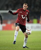 FUSSBALL   EUROPA LEAGUE   SAISON 2011/2012  SECHZEHNTELFINALE Hannover 96 - FC Bruegge                                    16.02.2012 Jan Schlaudraff (Hannover 96)  Einzelaktion am Ball