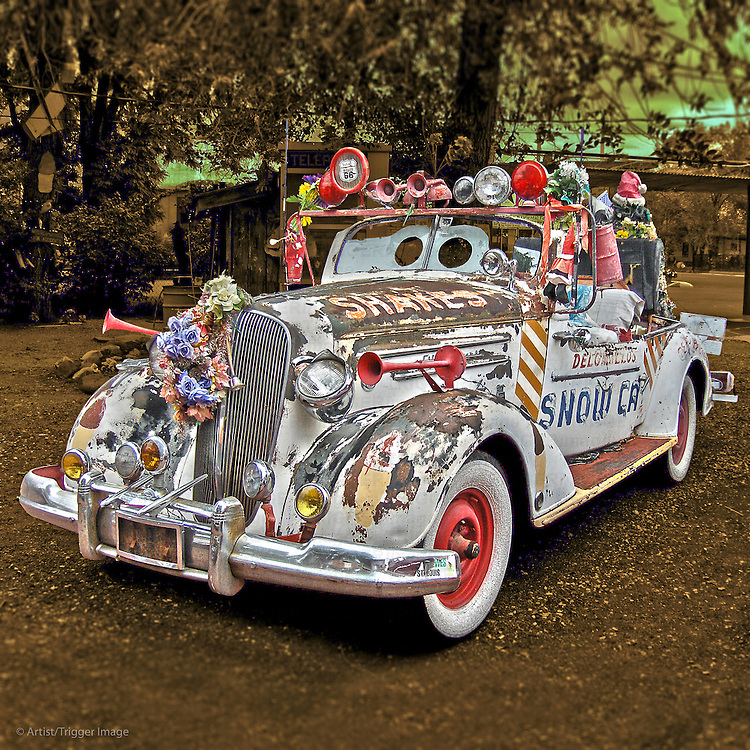 vintage car with custom fittings in USA