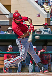 14 March 2014: Washington Nationals infielder Anthony Rendon in action during a Spring Training game against the Detroit Tigers at Joker Marchant Stadium in Lakeland, Florida. The Tigers defeated the Nationals 12-6 in Grapefruit League play. Mandatory Credit: Ed Wolfstein Photo *** RAW (NEF) Image File Available ***