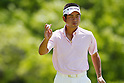 Yuta Ikeda, MAY 12, 2012 - Golf : Yuta Ikeda reacts on the 8th hole during the PGA Championship Nissin Cupnoodles Cup 2012 3rd round at Karasuyamajo Country Club, Tochigi, Japan. (Photo by Yusuke Nakanishi/AFLO SPORT) [1090]