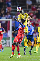 Bridgeview, IL - July 15, 2015: The Columbus Crew defeats the Chicago Fire by the score of 1-0 at Toyota Park.