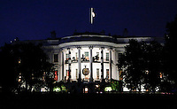 Halloween decorations are seen on the South Portico of the White House in Washington DC, October 29, 20016. <br /> Credit: Aude Guerrucci / Pool via CNP /MediaPunch