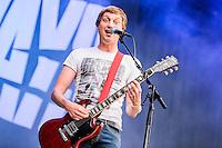 Billy Lunn - The Subways beim Open Flair 2015 in Open Flair Festival Eschwege am 09.August 2015. Foto: Rüdiger Knuth