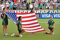U.S Flag...USWNT tied Sweden 1-1 at Morrison Stadium, Omaha Nebraska.