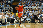 20 February 2016: Miami's Davon Reed. The University of North Carolina Tar Heels hosted the University of Miami Hurricanes at the Dean E. Smith Center in Chapel Hill, North Carolina in a 2015-16 NCAA Division I Men's Basketball game. UNC won the game 96-71.