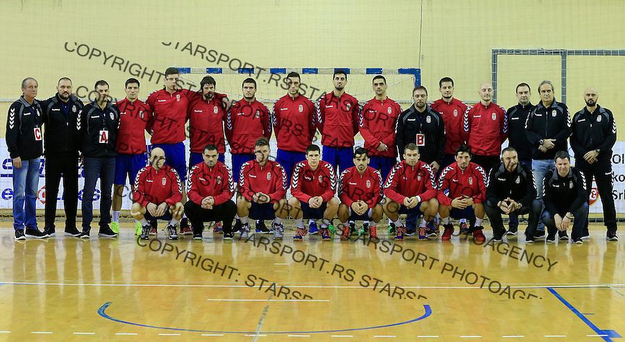 Rukomet-Handball<br /> Srbija v Rumunija-Prijateljski mec friendly match<br /> Rukometna reprezentacija Srbije<br /> Beograd, 28.12.2015.<br /> foto: Srdjan Stevanovic/Starsportphoto&copy;