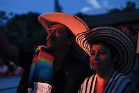 Colombians take part during the Our Lady of Mount Carmel celebrations in the Town of Tamesis July 14, 2012.  Photo by Kena Betancur / VIEWpress.