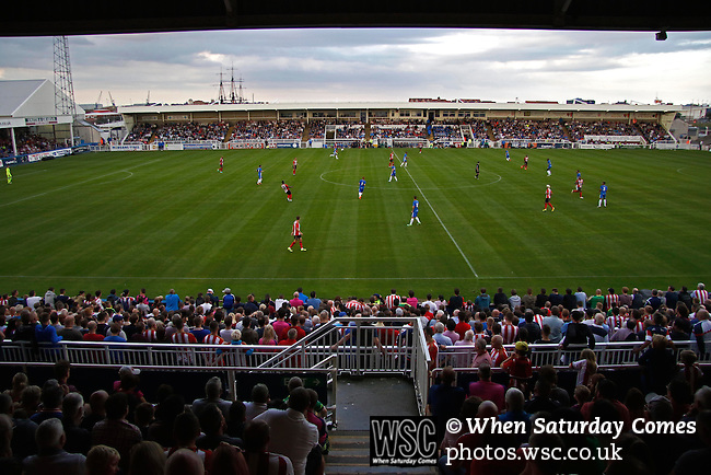 Hartlepool United 0 Sunderland 3, 20/07/2016. Victoria Park, Pre Season Friendly. the 6021 crowd watch the game. Photo by Paul Thompson.