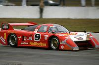 Bobby Rahal drives the March 82G 1/Chevrolet in the 24 Hours of Daytona on January 31, 1982, at Daytona International Speedway in Daytona Beach, Florida.