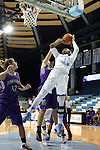 21 December 2013: North Carolina's Stephanie Mavunga (1). The University of North Carolina Tar Heels played the High Point University Panthers in an NCAA Division I women's basketball game at Carmichael Arena in Chapel Hill, North Carolina. UNC won the game 103-71.