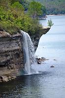 Spray Falls along the Pictured Rocks National Lakeshore shoreline. Munising, MI