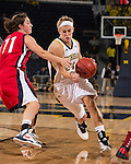 The University of Michigan women's basketball team beat Detroit, 70-62, at Crisler Center in Ann Arbor, Mich., on November 9, 2012.