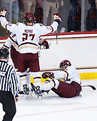 Jesper Mattila (BC - 8), Graham McPhee (BC - 27), Mike Booth (BC - 12) - The Boston College Eagles defeated the visiting Colorado College Tigers 4-1 on Friday, October 21, 2016, at Kelley Rink in Conte Forum in Chestnut Hill, Massachusetts.The Boston College Eagles defeated the visiting Colorado College Tiger 4-1 on Friday, October 21, 2016, at Kelley Rink in Conte Forum in Chestnut Hill, Massachusett.