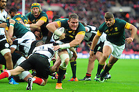 Roelof Smith of South Africa takes on the Barbarians defence Killik Cup International match, between the Barbarians and South Africa on November 5, 2016 at Wembley Stadium in London, England. Photo by: Patrick Khachfe / JMP