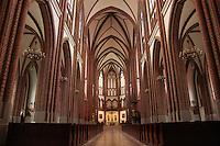 Polish catholic cathedral inside interior
