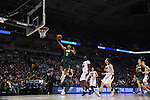 MILWAUKEE, WI - MARCH 16:  Vermont Catamounts guard Trae Bell-Haynes (2) shoots a layup during the second half of the 2017 NCAA Men's Basketball Tournament held at BMO Harris Bradley Center on March 16, 2017 in Milwaukee, Wisconsin. (Photo by Jamie Schwaberow/NCAA Photos via Getty Images)