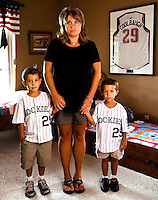 Joey, Mandy and Jake Coolbaugh, photographed at home in San Antonio, TX on August 21, 2007 for Sports Illustrated. ©2007 Darren Carroll