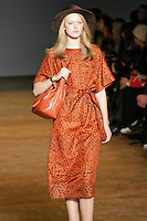 Frida Gustavsson walks runway in an outfit from the Marc by Marc Jacobs Fall/Winter 2011 collection, during New York Fashion Week, Fall 2011.
