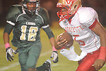 Lafayette High's Demarkous Dennis (5) runs vs. Tunica Rosa Fort Tunica, Miss. on Friday, October 7, 2011. Lafayette won 43-6.