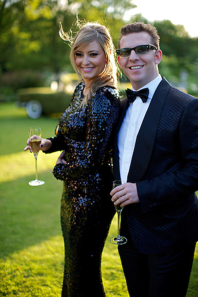 Holly Valance and Nick Candy at Elton John's White Tie and Tiara Ball